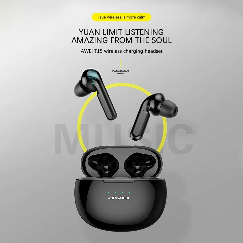 Qomomont Bluetooth Kopfh/örer in Ear Bluetooth 5.0 Headset Stereo-Minikopfh/örer Sport Kabellose Bluetooth Kopfh/örer mit Portable Mini Ladek/ästchen und Integriertem Mikrofon IPX4 wasserdichte