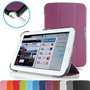 MoKo Slim Lightweight Smart Stand Cover Case for Samsung Galaxy Note 8.0 inch GT - N5100 Android Tablet, PURPLE (with Auto Wake/Sleep Function)