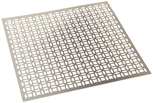 M-D Hobby & Craft 573-51 Silver Colored Metal Sheet, 12 by 12-Inch, Elliptical
