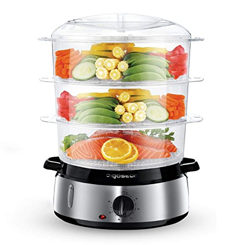 Aigostar Fitfoodie 30KHM - Electric Food Steamer, 800W, 3-Tier 9 L...