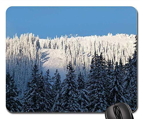 Mouse Pad - Sun Peaks Ski Hill Resort Winter Skiing Outdoor