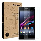 Arbalest Sony Xperia Z1 Screen Protector ,[Invisible Defender] 0.3mm Thickness 2.5D Rounded Edges 9H Premium Real Tempered Glass, Crystal High Clear 9H Hardness