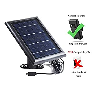 Solar Panel for Ring Stick Up Cam, Power your Ring Outdoor Camera continuously with our new Solar Charging Device – by Wasserstein