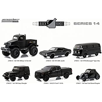 New 1:64 Black Bandit Collection Series 13 Black 1963 Dodge D-100 Diecast Model Car by Greenlight