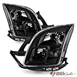ford fusion headlight assembly - Xtune 2006-2009 Fusion Black Direct Fit Headlights Driver+Passenger Side Pair L+R 2007 2008