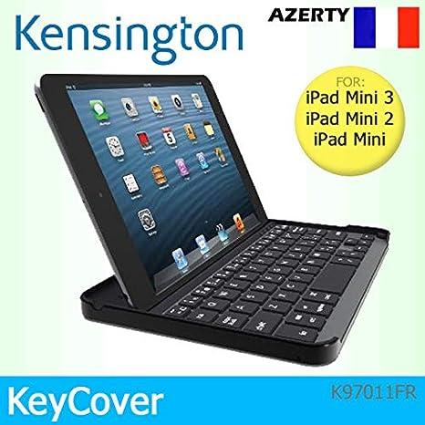 Kensington - Funda magnética con Bluetooth para Apple iPad mini 1, 2 y 3, diseño de teclado francés azerty, color negro