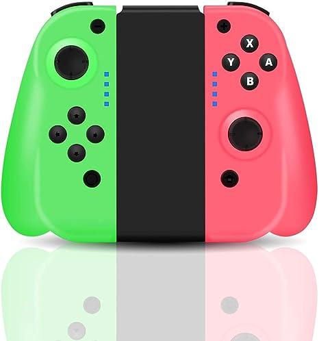 Maegoo Mando para Nintendo Switch, JoyCon Switch Mando Gamepad Joysticks para Nintendo Switch, Bluetooth Inalámbrico Switch Mando Joycon con Doble Vibración y Giroscopio de 6 Ejes: Amazon.es: Electrónica
