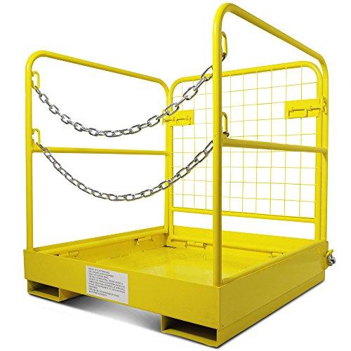 Forklift Safety Cage Work Platform Collapsible Lift Basket Aerial Rails 36'x36'