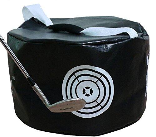 Amazingli Golf Impact Power Smash Bag Hitting Bag Swing Training Aids Waterproof Durable (Black)