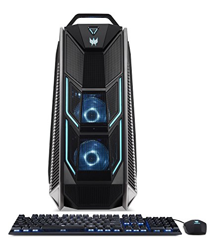 - Acer Predator Orion 9000 PO9-900-I9KHCFF1080Ti2 Desktop, Intel Extreme i9-7980XE 18-Core, Liquid-Cooled, Dual NVIDIA Geforce GTX 1080 Ti 11GB in SLI, 128GB DDR4 RAM, 512GB SSD, 2TB, Win 10, VR Ready