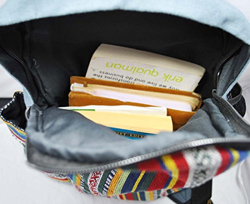 421588d9ab Mato Sling Bag Backpack Boho Bohemian Tribal Aztec Baja Pattern One Shoulder  Daypack Blue
