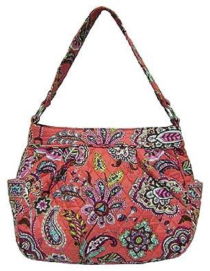 6b0599f8eb22 Vera Bradley Reversible Tote Bag Purse Call Me Coral