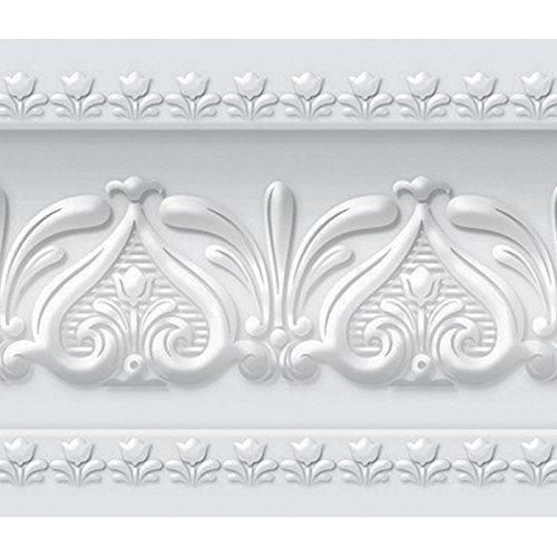 Royal Tulip Peel and Stick Wall Border Easy to Apply (Neutral Gray) Adhesive Peel Off Borders