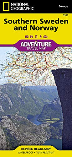 Paper Geographic Adventure Map National (Southern Sweden and Norway (National Geographic Adventure Map))