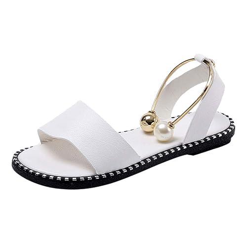 Beladla Sandalias Mujer Tacon Bajo Sandalias Woman Verano Alpargatas Plataforma CuñA Bohemias Planas Mares Romanas Gladiador Tacon Zapatos Zapatillas: ...