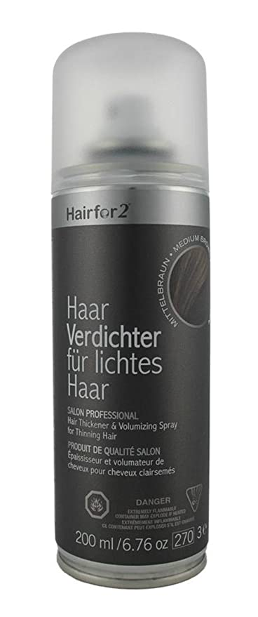 Hairfor2 Hair Thickening Spray Black Cuidado del Cabello - 200 ml