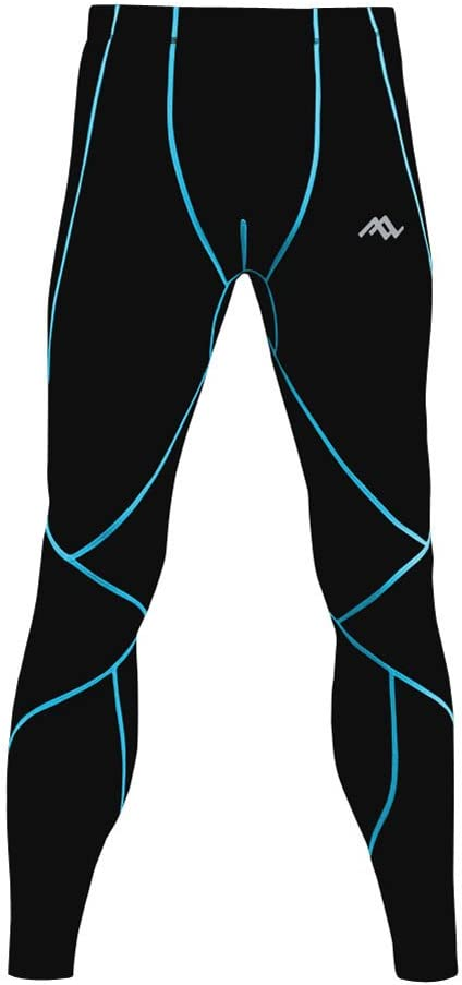 PASSWIN Men's Sports Tights Base Layer Compression Long Pants