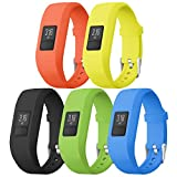 SKYLET Compatible Garmin Vivofit 3 & Vivofit JR/Vivofit JR.2 Bands, Soft Silicone Replacement Bands Compatible Vivofit 3/JR/JR.2 Accessories Bracelet with Secure Watch Buckle for Kids Women Men