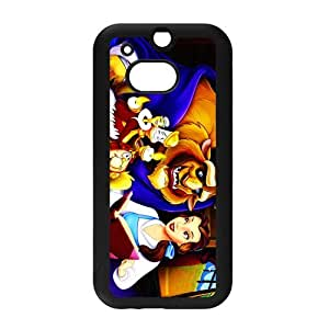 Classic Cartoon Movie&Beauty and The Beast Background Case Cover for HTC One M8 - Hard PC Back&4 sides TPU Protective Case Shell-Perfect as gift