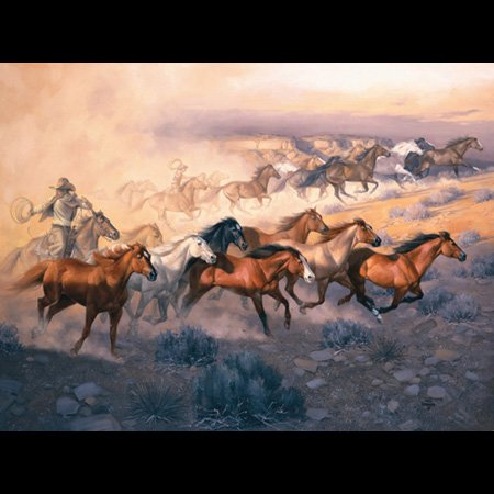 Jack Sorenson Dust Of Stolen Horses 500Pc Jigsaw Puzzle