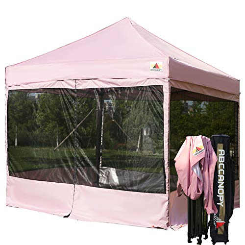ABCCANOPY 10x10 Pop up Canopy Tent Party Tent with Netting Commercial Instant Gazebo with Screen Walls ()