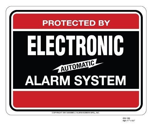 SECURITY SIGN - #103 BURGLAR ALARM SYSTEM WARNING SIGN