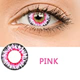 Women Multicolor Cute Charm and Attractive Fashion Contact Lenses Cosmetic Makeup Eye Shadow(Pink)