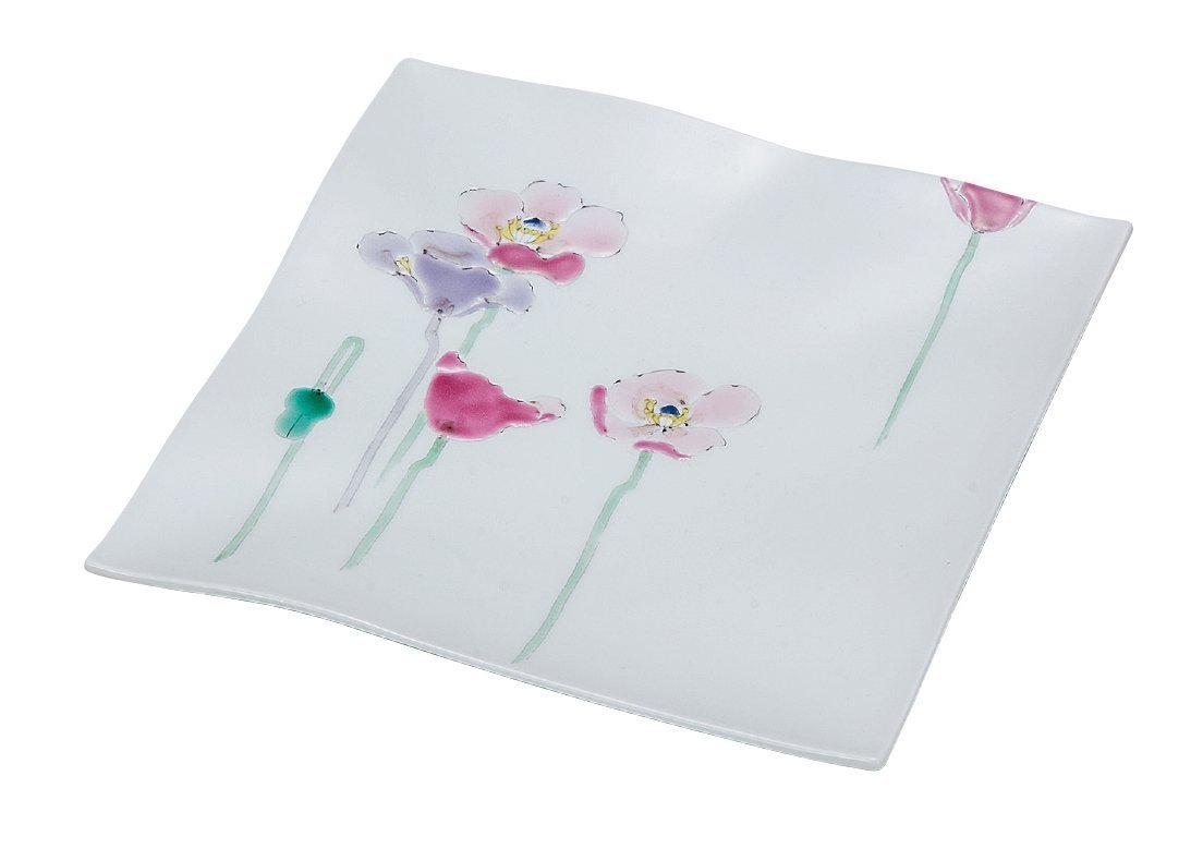 KUTANI Ware Plate / Poppy