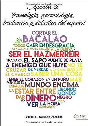 Apuntes de fraseología, paremiología y traducción del ...