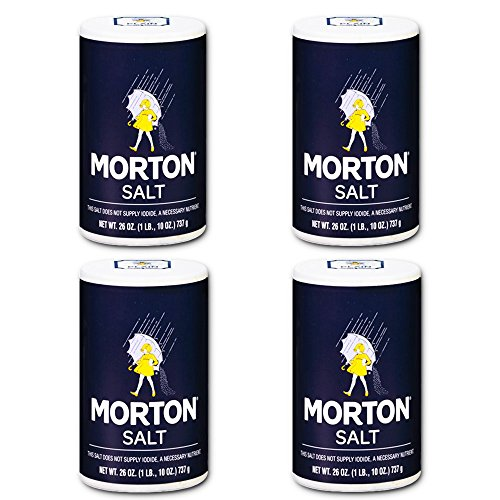 Morton Salt Regular Salt, 26 Oz (4 Pack)