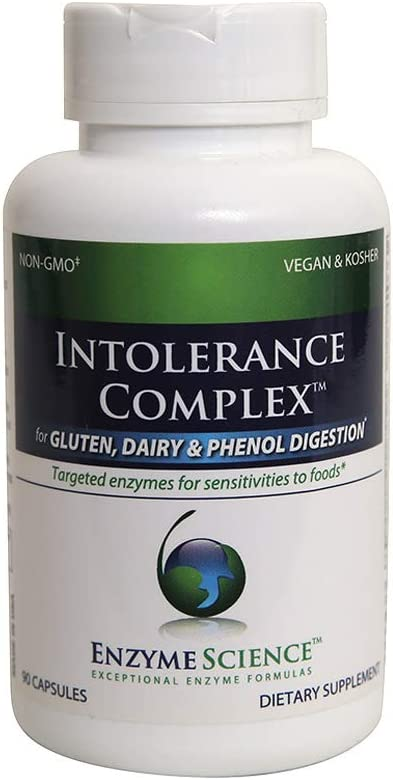 Enzyme Science™ Intolerance Complex™, 30 Capsules – Comprehensive Support for Common Digestive Sensitivities–Gluten, Casein, Lactose, Phenol Sensitivities, and Complex Carbohydrates Intolerance Relief