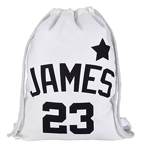 Personalized Drawstring Canvas Backpack Bag, Custom Gym Sack, Sports Team Backpack -