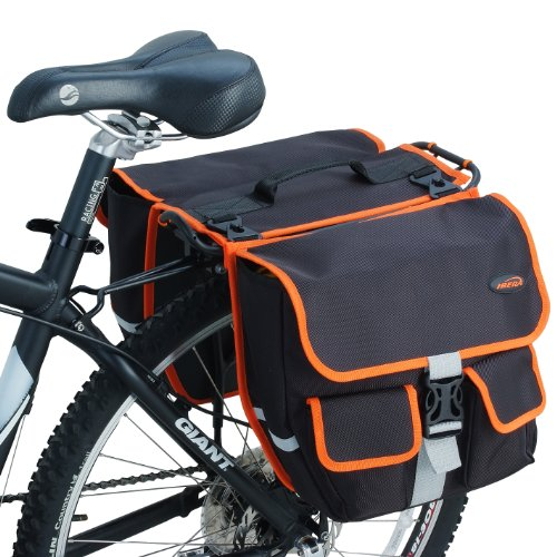 Ibera 2 in 1 Bike Panniers/ Messenger Bag with Detachable Shoulder Strap