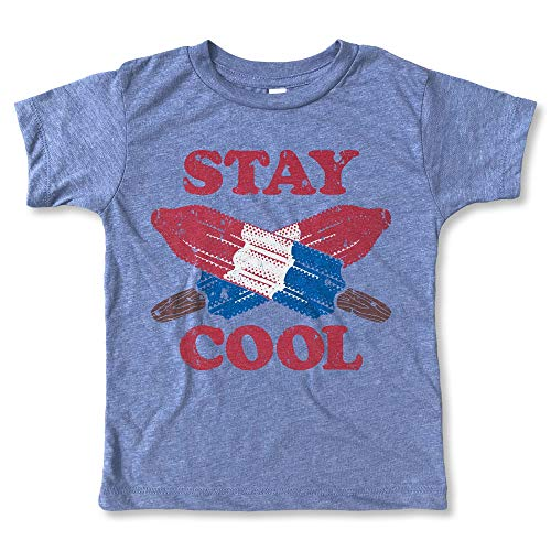 Rivet Apparel Co. Stay Cool Shirt - Kids and Toddler July 4th T-Shirt Heather Blue]()