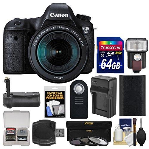 Canon EOS 6D Digital SLR Camera Body & EF 24-105mm IS STM