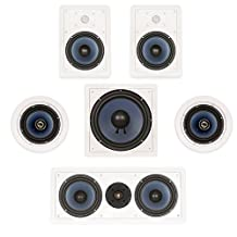 """Blue Octave In Wall and In Ceiling 5.1 Home Theater 6.5"""" Speaker Set New 1570 Watts LHT625"""