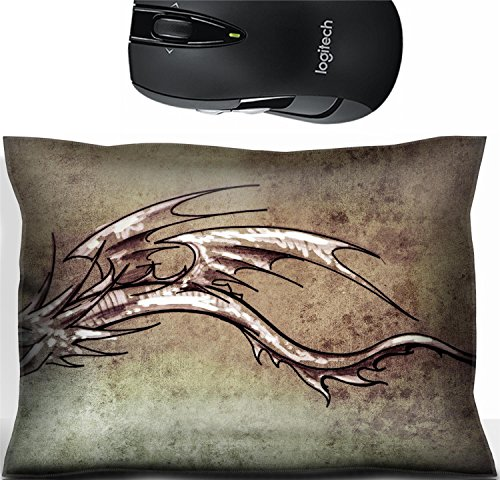 st Office Decor Wrist Supporter Pillow IMAGE ID 32342575 Sketch of tattoo art stylish decorative dragon on vintage paper handmade illustration ()