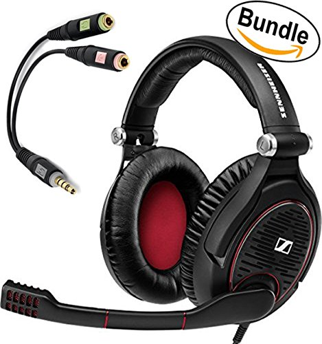 Sennheiser GAME ZERO PC Gaming Headphone 506079 (Black) & Sennheiser PCV 05 Combo Audio Adapter - Bundle