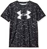 Under Armour Boys' Tech Big Logo Printed T-Shirt, Black (002)/White, Youth Large: more info