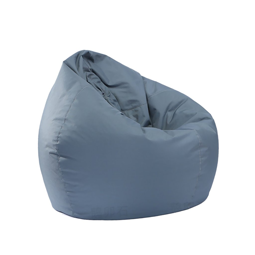D DOLITY Large Size Bean Bag Cover without Filling Beanbag Chair for Adult Teen Children 30x30x35 inch - Grey