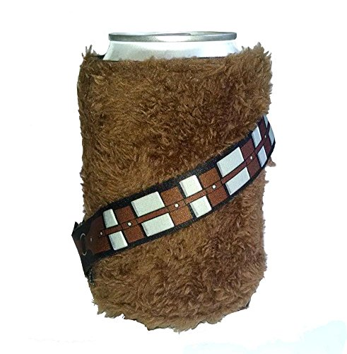 Licensed Furry Chewbacca Wookie Star Wars Cold Can Cooler