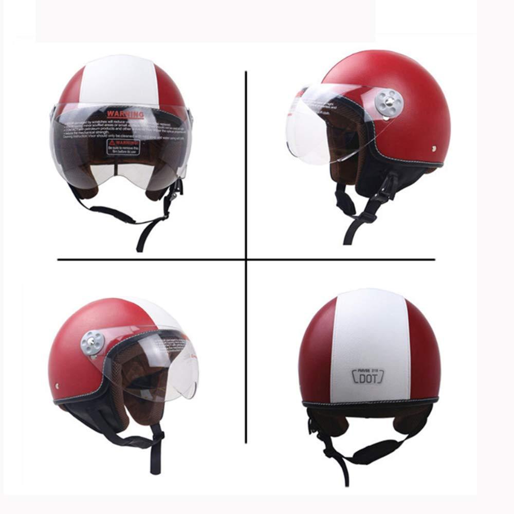 M, L, XL ,M Z/&FEI ZR Halbhelm mit offenem Gesicht Jet Motorrad Roller Pilot Retro Harley Helm DOT Zertifiziert Down Visier