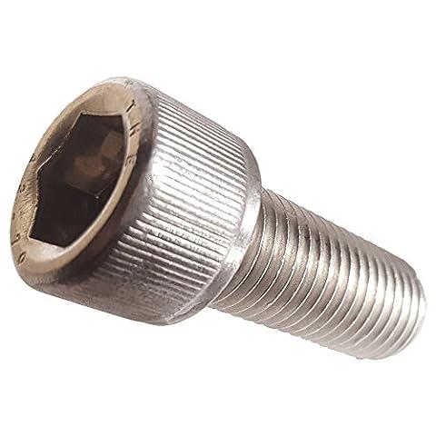 M6-1.00 x 25MM Socket Head Cap Screws, Allen Socket Drive, Din 912, Stainless Steel 304, Full Thread, Bright Finish, Machine Thread, Quantity - 25 Mm Socket