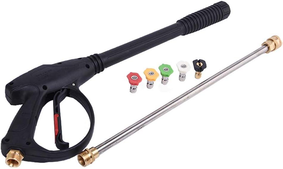 Stone Banks Pistola de alta presión para limpieza de coches, equipos mecánicos, suelos, paredes, ventanas, pistola de pulverización con varita de extensión, boquillas
