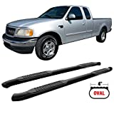 2001 f150 crew cab running boards - Side Step Bars Fits 1999-2003 Ford F150 Super Cab | Black Powder Coat Finish Carbon Steel Running Boards Nerf Bars By IKON MOTORSPORTS | 2000 2001 2002