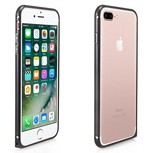 Alienwork Schutzhülle für iPhone 7 plus Ultra-flach Hülle Case Bumper Aluminium schwarz AP7P03-01