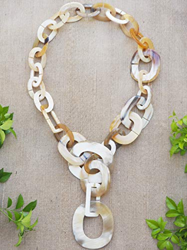 Natural Buffalo Horn Material Necklace Jewelry