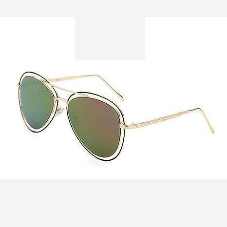 ZHANG Metallo di modo occhiali da sole occhiali da sole unisex tendenza vetri variopinti, 7