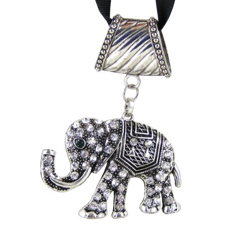 Elephant Pendant Jewelry Charm Crystals for Scarves