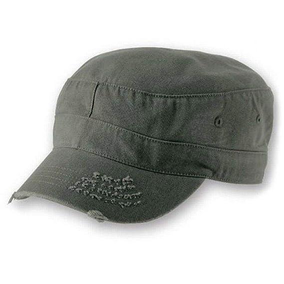 T en el Parque - Distressed Logo - Oficial Gorra Militar (Sombrero, Béisbol) - Verde, Small/Medium: Amazon.es: Ropa y accesorios